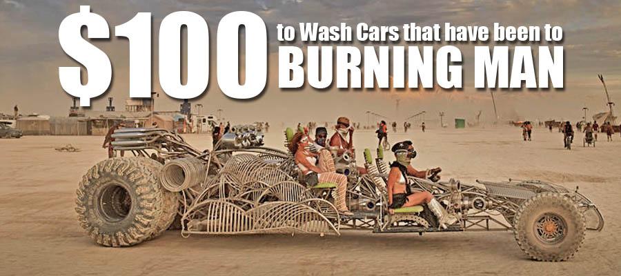 washing cars from burning man